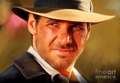 80s Painting - Indiana Jones by Paul Tagliamonte