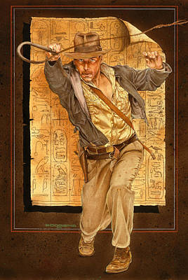 Harrison Painting - Indiana Jones by Timothy Scoggins
