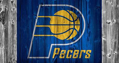 Indiana Pacers Mixed Media - Indiana Pacers Barn Door by Dan Sproul