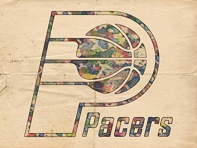 Basketball Painting - Indiana Pacers Poster Art by Florian Rodarte