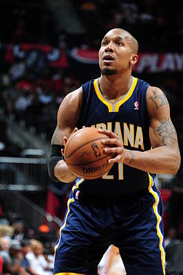 Photograph - Indiana Pacers V Atlanta Hawks - Game by Scott Cunningham