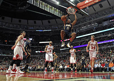 Photograph - Indiana Pacers V Chicago Bulls by Jonathan Daniel