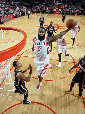 Photograph - Indiana Pacers V Houston Rockets by Layne Murdoch