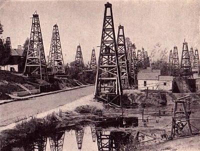 Indiana Images Drawing - Indiana Petroluem Wells Circa 1900 by Peter Gumaer Ogden
