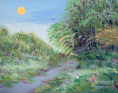 Indiana Spring Afternoon By The Creek Art Print