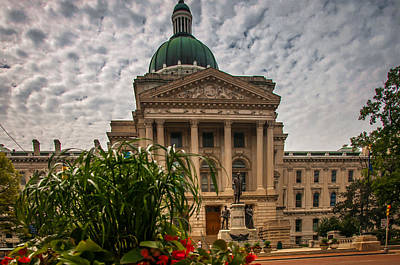Photograph - Indiana State Capitol Building by Gene Sherrill