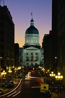State Capitol Photograph - Indiana State Capitol Building by Panoramic Images
