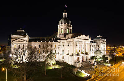 Indiana Photograph - Indiana State Capitol Building by Twenty Two North Photography