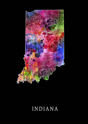 Lake Michigan Digital Art - Indiana State by Daniel Hagerman