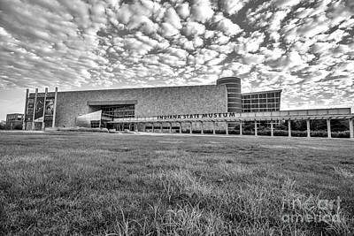 Photograph - Indiana State Museum Black And White Alpha by David Haskett II