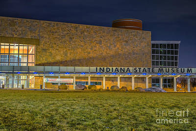 Photograph - Indiana State Museum Night Delta by David Haskett