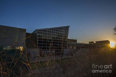Photograph - Indiana State Museum Sunset 400 by David Haskett