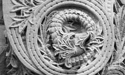 Indiana University Limestone Detail Art Print by University Icons