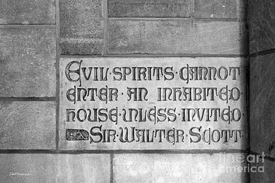 Indiana Photograph - Indiana University Memorial Hall Inscription by University Icons