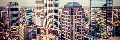Indianapolis Aerial Retro Panorama Picture Art Print