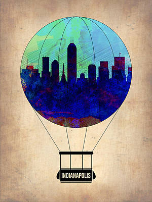 Indianapolis Air Balloon Art Print by Naxart Studio