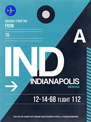 Indianapolis Digital Art - Indianapolis Airport Poster 2 by Naxart Studio
