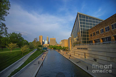 Photograph - Indianapolis Canal Blue Sunset by David Haskett