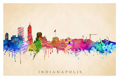 Digital Art - Indianapolis Cityscape by Steve Will