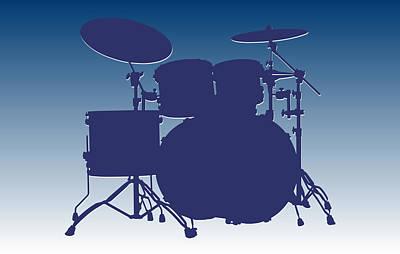 Indianapolis Photograph - Indianapolis Colts Drum Set by Joe Hamilton