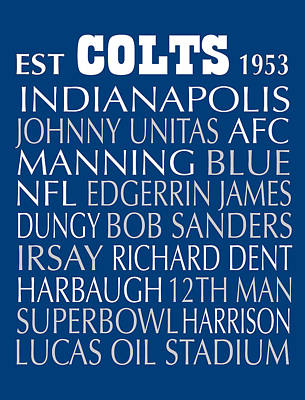 Digital Art - Indianapolis Colts by Jaime Friedman