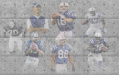 Indianapolis Photograph - Indianapolis Colts Legends by Joe Hamilton