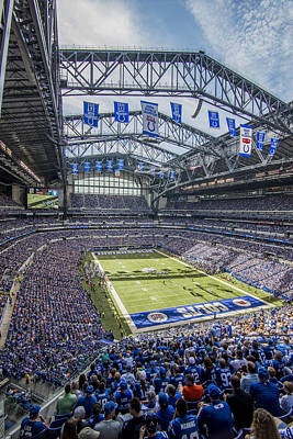 Photograph - Indianapolis Colts Lucas Oil Stadium 106 by David Haskett