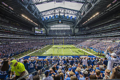 Photograph - Indianapolis Colts Lucas Oil Stadium 3085 by David Haskett