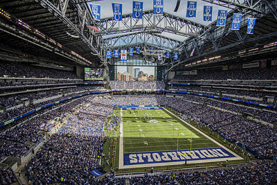 Photograph - Indianapolis Colts Lucas Oil Stadium 3143 by David Haskett
