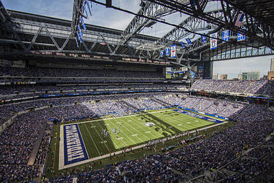 Photograph - Indianapolis Colts Lucas Oil Stadium 3159 by David Haskett