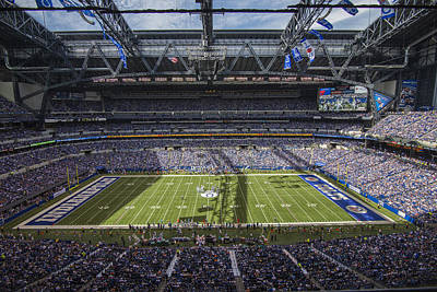 Photograph - Indianapolis Colts Lucas Oil Stadium 3181 by David Haskett