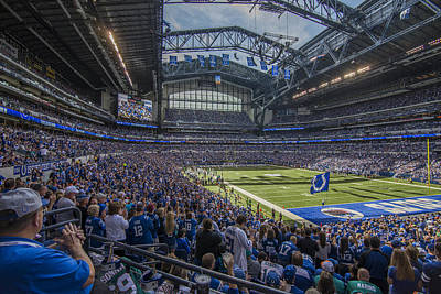 Photograph - Indianapolis Colts Lucas Oil Stadium 3229 by David Haskett