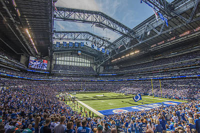 Photograph - Indianapolis Colts Lucas Oil Stadium 3233 by David Haskett