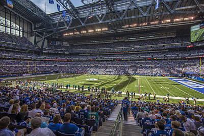 Photograph - Indianapolis Colts Lucas Oil Stadium 3241 by David Haskett