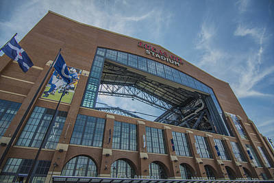 Photograph - Indianapolis Colts Lucas Oil Stadium 3260 by David Haskett