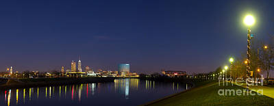 White River Photograph - Indianapolis From White River by Twenty Two North Photography