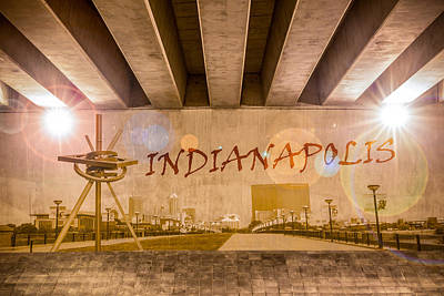 Photograph - Indianapolis Graffiti Skyline by Semmick Photo