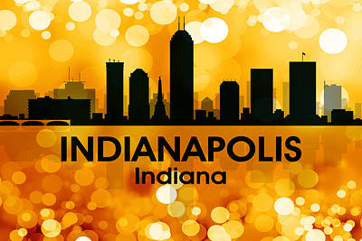 Indianapolis In 3 Art Print by Angelina Vick