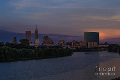 Photograph - Indianapolis Indiana Amazing Sunset by David Haskett