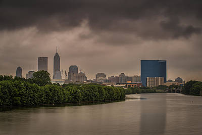 Indianapolis Photograph - Indianapolis Indiana Dark Storm by David Haskett