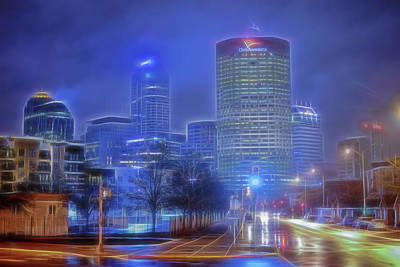Photograph - Indianapolis Indiana Glowing by David Haskett II