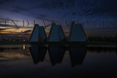 Photograph - Indianapolis Indiana Hoosiers Pyramids Name by David Haskett II