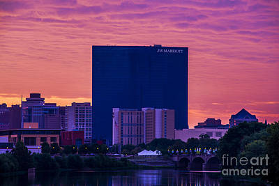 Photograph - Indianapolis Indiana Jw Marriott Sunrise by David Haskett