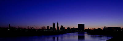 Photograph - Indianapolis Indiana Panoramic Blue Hour Sunrise by David Haskett