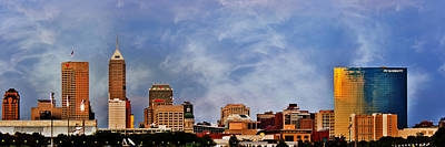 Photograph - Indianapolis Indiana Skyline  0762 Color by David Haskett II
