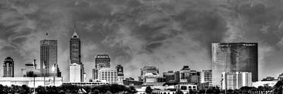 Photograph - Indianapolis Indiana Skyline 0762 by David Haskett