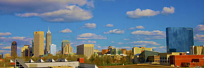 Photograph - Indianapolis Indiana Skyline C 700 Oil  by David Haskett II