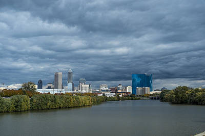 Indianapolis Indiana Skyline Fj Storm Art Print