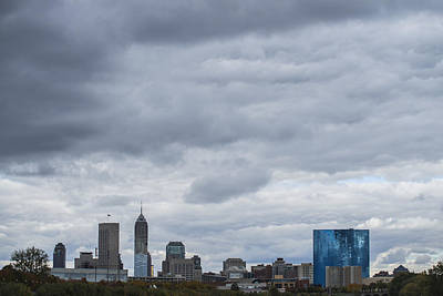 Photograph - Indianapolis Indiana Skyline License  1 by David Haskett