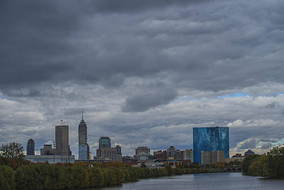 Photograph - Indianapolis Indiana Skyline N Storm by David Haskett II